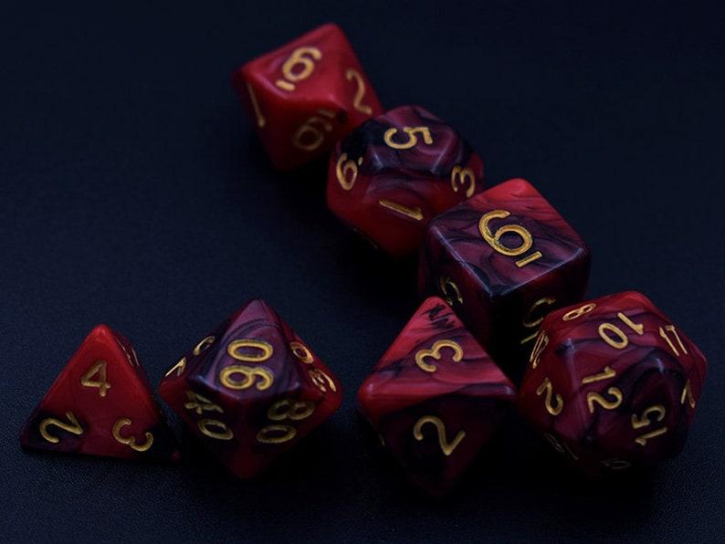 Sonstige 7 Polyhedral Würfel sterben D20 D12 D10 D8 D6 D4 für Dungeons &