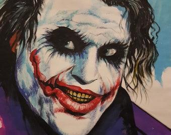 Acrylic Painting on Canvas - The Joker