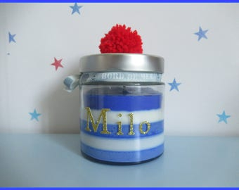 Birth gift-baby gift-original candle personalized room baby sailor
