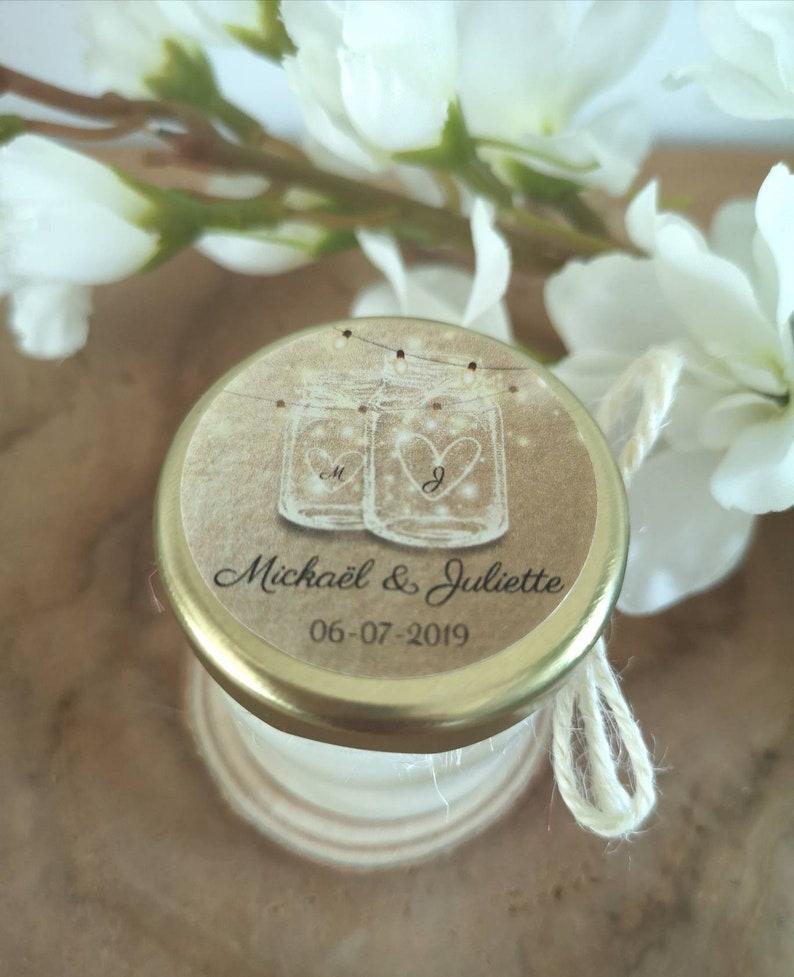 Mini Bougies Cadeau Invités Mariage