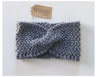 "Headband ""Alice"" loop turban knit twist strap ear wool"