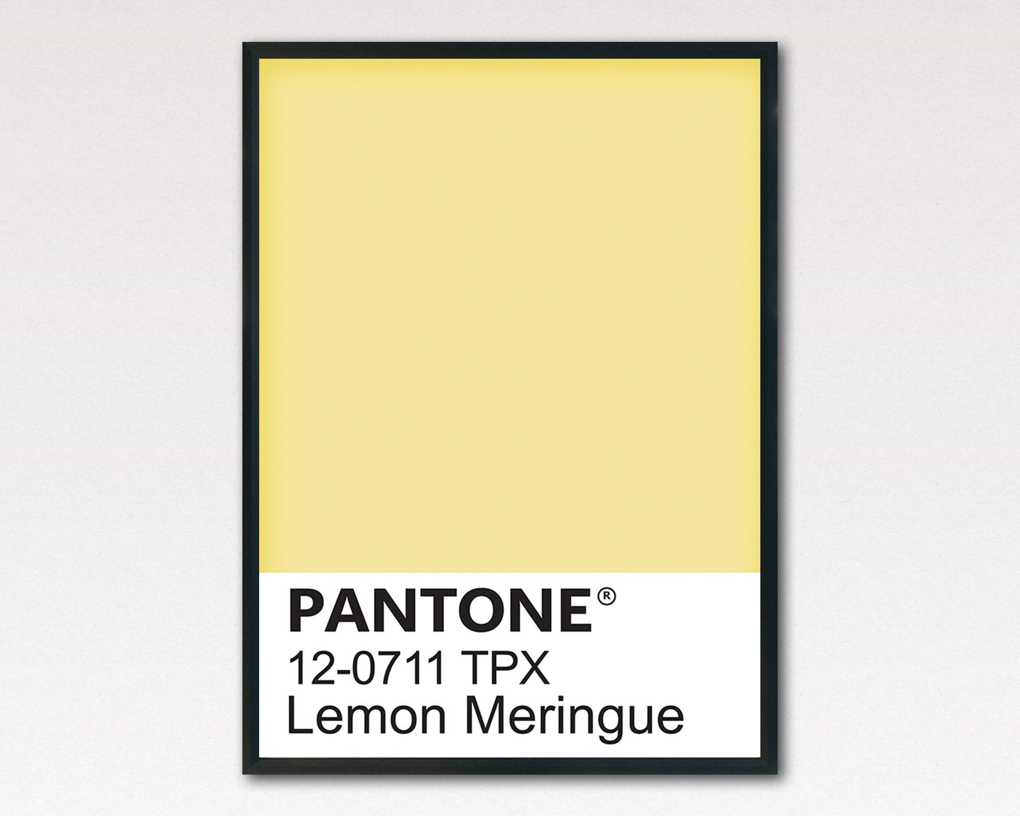Pantone Print Pantone Poster Pantone Wall Art Pantone Yellow | Etsy