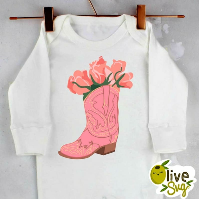 e91de7a08b9aa Pink Cowgirl Boots SVG Western boots rodeo svg country girl
