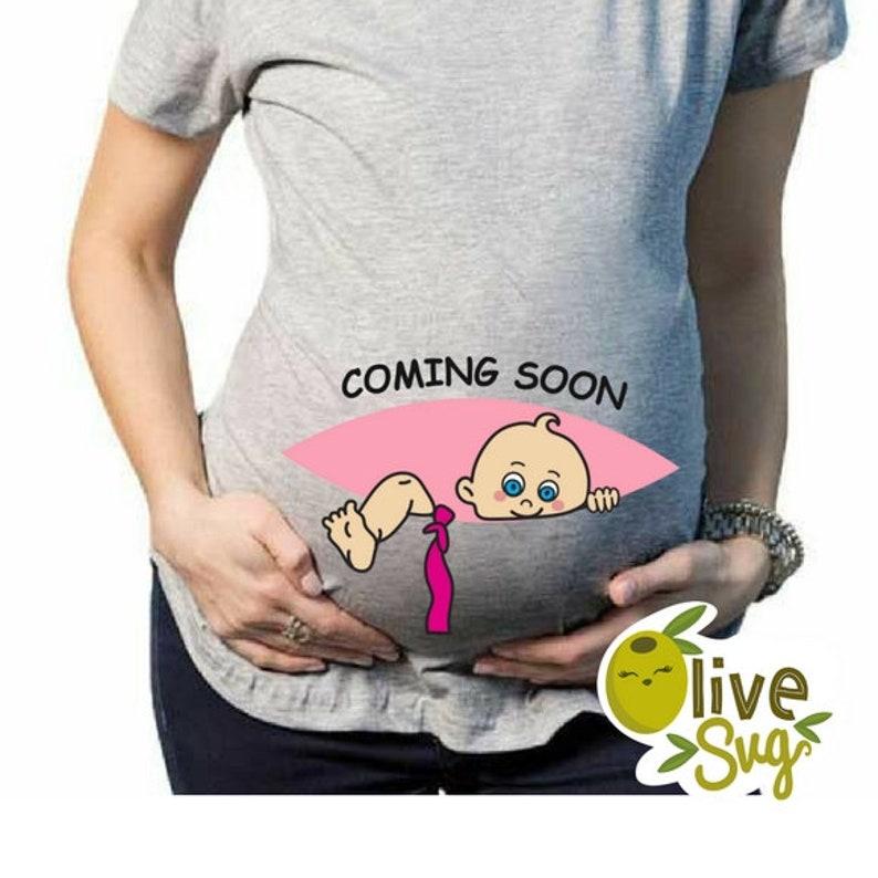 8159bb6d Peeking baby svgcoming soon baby girl svg maternity t shirt | Etsy