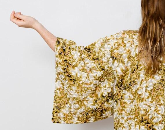 Floral Silk Kimono // Vintage Japanese Kimono // Silk Robe // Duster