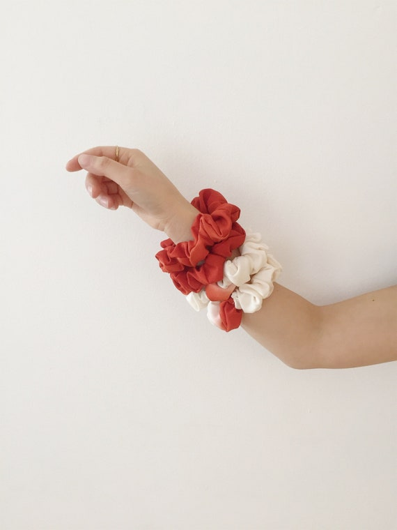 Silk Scrunchies // Hair Scrunchies // Vintage Kimono Fabric // Hair Accessory