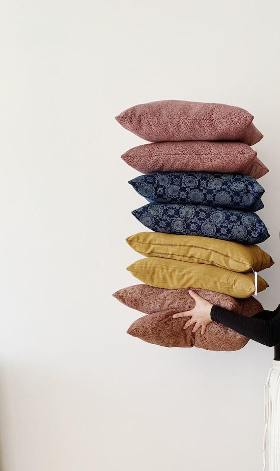 Silk Cushion Set // Vintage Kimono Fabric // Decorative Cushion // Home Decor // 2 Pillows
