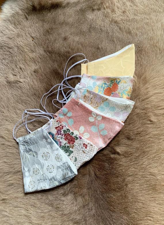 Silk Mask // Kimono Fabric // Repurposed Vintage Fabric