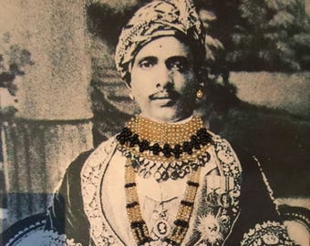 Maharaja embelished fabric canvas