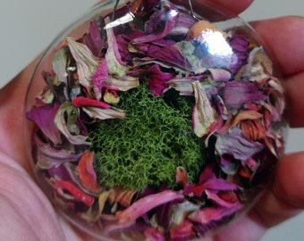 EPSILON Glass Disc Nature Momento Ornament