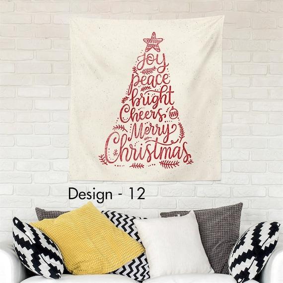 Red Christmas Tree Large Wall Hanging Christmas Tapestry Design Christmas Wall Decor Interior Design Wall Art Gift Wall Hanging Design 12