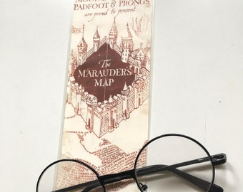 "Bookmark ""Of the Marauders map"" - inspired by Harry Potter"