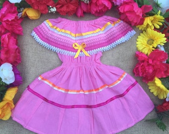 Mexican baby dress off the shoulder size 12 months