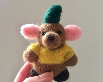 Needle felted Gus Gus Disney