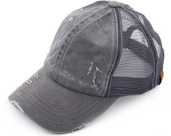 4027cf538 Girls ponytail hat | Etsy