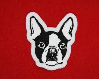 Diamond Patch Dog Lover Patch Frenchie Patch Glowy French Bulldog Patch Women/'s Patch Glow in the Dark Patch