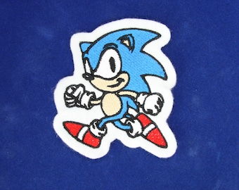 Sonic the Hedgehog Cartoon Iron on, Sew or Hook & Loop (Velcro) Embroidered Patch