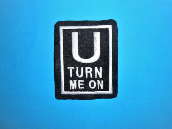 Embroidered Spank Me It/'s The Only Way I Learn Sew or Iron on Patch Biker Patch