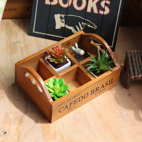 Small Wood Planter Box Succulent Planter Plant Holder Etsy