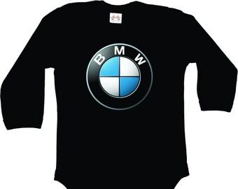 BMW Body Manches courtes Logo Body Body blanc 100/% Coton Auto
