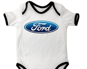 FORD Bodysuits Short sleeve Baby Body Logo Fans White 100/% Cotton Auto ST Focus