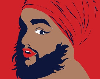 Bearded Lady Print