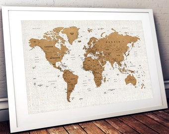 World map wall art etsy push pin world map printable world map wall art world map print world map poster world map wall art map wall decor digital download map gumiabroncs Choice Image