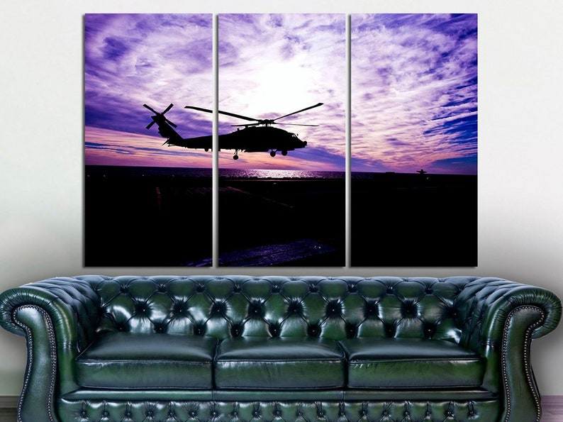 Helicopter Wall Art Helicopter Wall Decor Helicopter Poster Helicopter Canvas Art Sikorsky Wall Art Aircraft Wall Art Helicopter Print