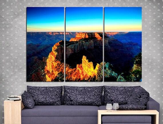 Grand Canyon Canvas Set For Wall Decoration Arizona Grand Etsy