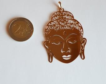 18K Gold Plated Buddha Head Pendant