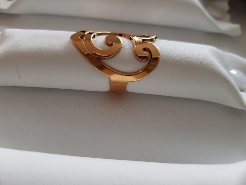 female ring-gold plated ring Gold plated Heart Ring 750000 warranty-adjustable ring