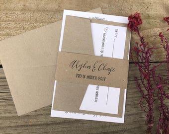 Sample Diy Invitation Kit Laser Cut Wedding Invitation Kit Etsy