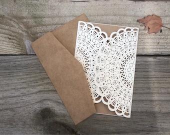 SAMPLE DIY invitation kit | laser cut wedding invitation kit | rustic wedding invitation | rustic wedding invite kit