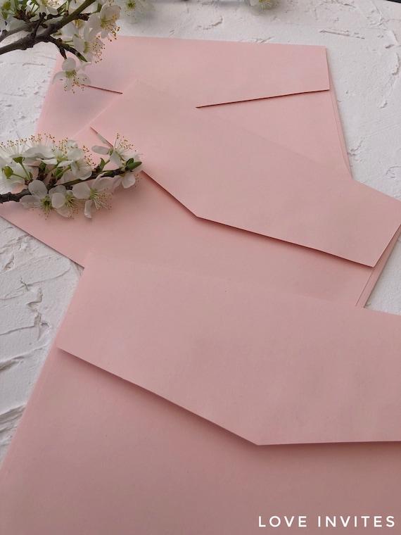 5x7 envelopes invitation envelopes pink envelopes blush etsy
