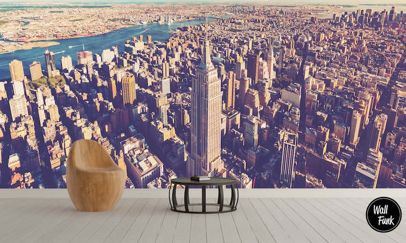 New York City Haze Wall Mural Self Adhesive City Mural City Wallpaper New York Mural Wall Art Mural Wallpaper New York Wallpaper
