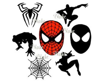 spiderman SVG JPG PNG Spiderman logo clipart svg, Spiderman collection svg for t-shirt mugs..superhero svg cut files diy superhero birthday