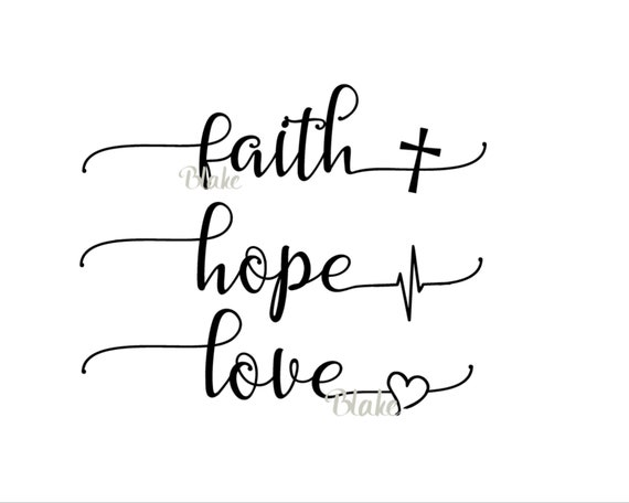 Download Faith Hope Love svg Religious svg faith svg Christian svg hope