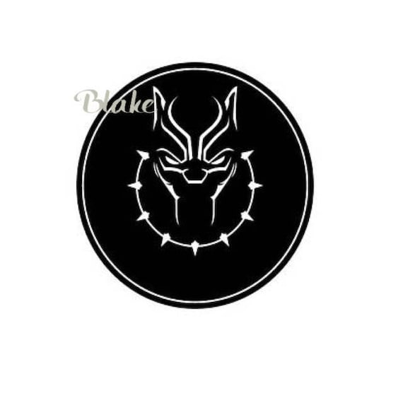 Black Panther Svg Jpg Png Black Panther Logo Symbol Necklace Etsy