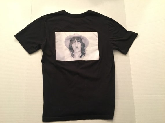 Patti Smith black cotton t shirt novelty funny mus