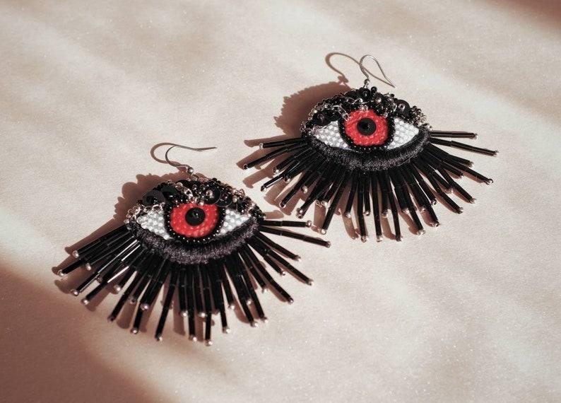 Halloween earrings black pair