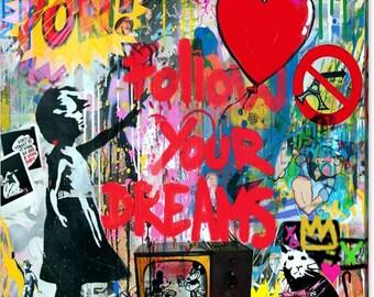 Motiv Bardot Love Art  XXL Silber Alu 100x100 cm PopArt//Bild//Druck//StreetArt