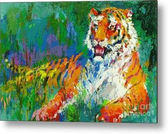 Tiger Colourful /Animals/PopArt/StreetArt/Leopard/Lion/Painting/WoodPrint/Poster/XXLCanvas/Canvas/StreetArt/Afrika/SouthAfrika/MetalPrint