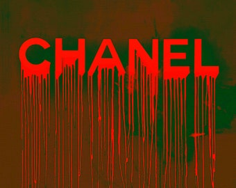 Chanel Plakative Fashion Neon Weave Trendy/ChanelArt/ChanelPoster/Painting/Prada/Warhol/StreetArt/PopArt/Stylish/Decorative/Typografie/
