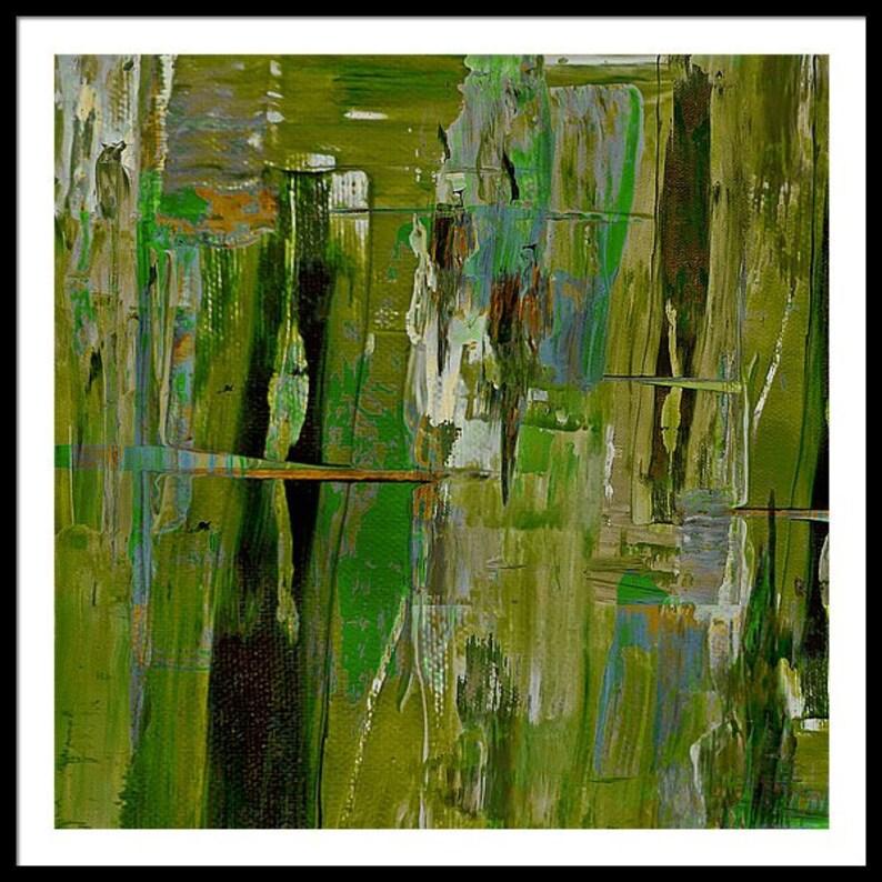Abstract Green Expressionism ModernArtAvantgardAbstract XXLCanvasMetalPrintGelbPlexiglasAcrylglasXXLPrintColourfulXXLPrintsXXL