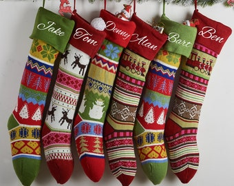 personalized christmas stockings personalized christmas personalized knit christmas stockings personalized embroidery knit stocking