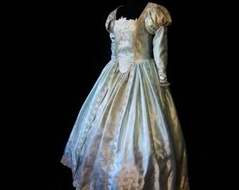 Renaissance wedding dress etsy ready to wear renaissance elizabethan bridal gown wedding dress sample size l junglespirit Gallery
