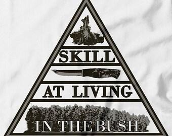 Bushcrafting in a nutshell. T-Shirt