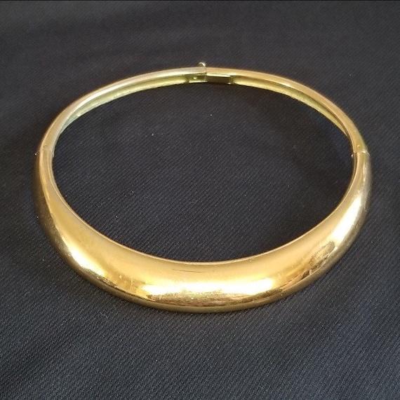 Vintage 1970's Lanvin collar necklace Chocker cle… - image 1