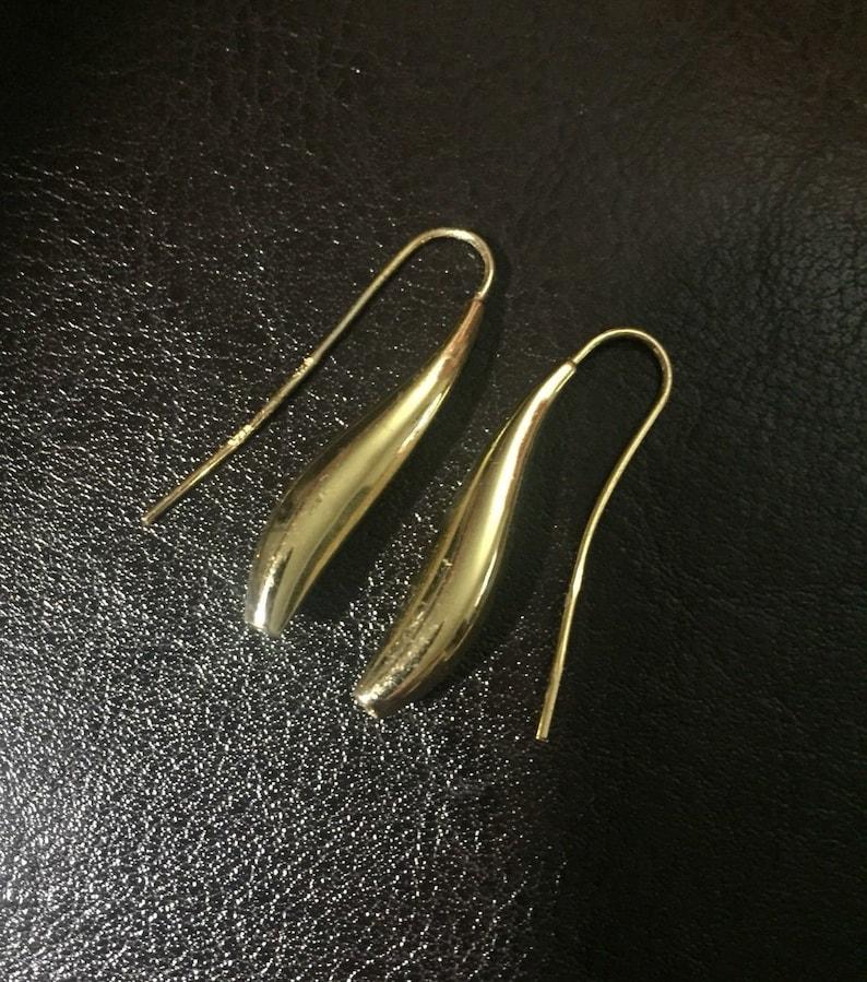 693567c06 14K Gold Filled Teardrop earrings Italy Sterling Silver   Etsy