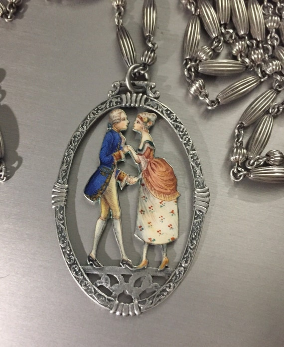 Spectacular Victorian Sterling silver & enamel nec